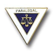Paralegal Scales of Justice Lapel Pin Triangle Shape Gold Plated AF5037