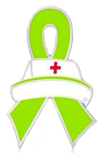 Muscular Dystrophy Lapel Pin Lime Green Awareness Ribbon