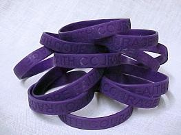 ADD Awareness Purple Bracelets Attention Deficit Disorder 100 Piece Lot