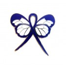 Water Safety Lapel Pin Blue Awareness Ribbon Butterfly