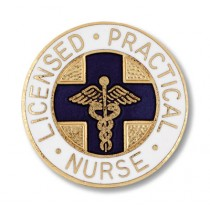 LPN Lapel Pin Licensed Practical Nurse Blue Cross Medical Caduceus Emblem 1033