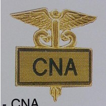 CNA Lapel Pin Certified Nurses Aide Certified Nursing Assistant Gold Inlaid Caduceus Medical 3508G