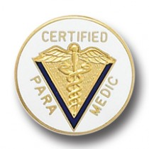 Certified Paramedic Lapel Pin Professional Medical Caduceus 5014