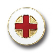 Red Cross Lapel Pin Volunteer Professional Medical Insignia Emblem 5021