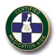 Certified Medication Aide Lapel Pin RX Medical Insignia Emblem Professional 5022