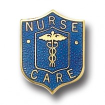 Nurse Care Lapel Pin Professional Medical Nursing Emblem Safety Catch Back 5026