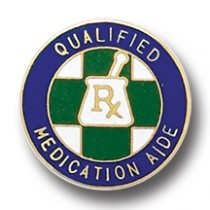 Qualified Medication Aide Lapel Pin R/X Hospital Medical Pharmacy 5029