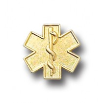 Star of Life EMT EMS Lapel Pin Gold Plated Medical Emblem Graduation Pins 5030
