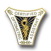 Certified Optometric Assistant Lapel Pin Professional Medical Insignia 5044
