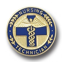 Nursing Technician Lapel Pin Blue Cross Caduceus Professional Emblem 5048