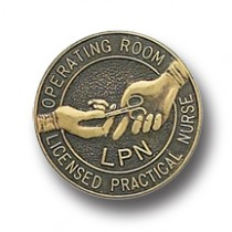 LPN Operating Room Lapel Pin Licensed Practical Nurse Bronze 5050 Professional