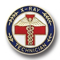 X-RAY Technician X Ray Caduceus Professional Medical Emblem Lapel Pin 5063