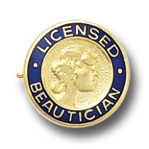 Licensed Beautician Beauty Salon Hair Stylist Professional Lapel Pin AF812