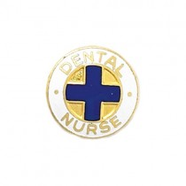 Dental Nurse Lapel Pin Blue Cross Dentist Professional Medical Emblem 816