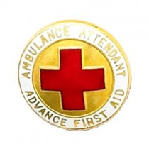 Ambulance Attendant Advance First Aid Lapel Pin Professional Medical 937