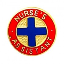 Nurse's Assistant Blue Cross Medical Emblem Lapel Pin 938