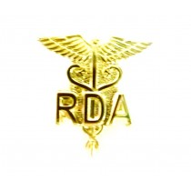 RDA Lapel Pin Registered Dental Assistant Medical Caduceus Emblem 950