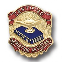 Certified Geriatric Assistant Lapel Pin Professional Quality Medical Emblem 951
