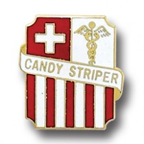 Candy Striper Lapel Pin Volunteer Professional Medical Hospital Volunteer Emblem 960