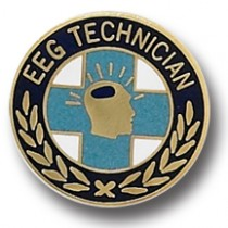 EEG Technician Lapel Pin Tech Professional Medical Emblem Gold Plate 986