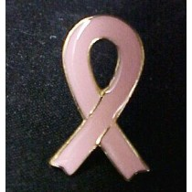 Pink Ribbon Lapel Pin Breast Cancer Awareness Funeral Memory Cap Tac Promotional