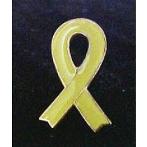 Yellow Awareness Ribbon Lapel Pin Support  Funeral Cap Tac Promotional Quality