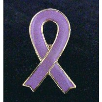 Gynecological Cancer Awareness Month is September Lavender Lilac Ribbon Lapel Pin Tac Lot of 6