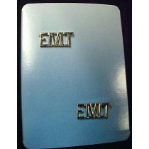 EMT Collar Pins Emergency Medical Technician Lapel Pin Tac Set of 2 Silver Plate Letter Pins