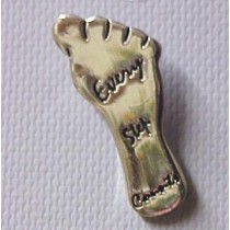 Every Step Counts Colon Cancer Awareness Foot Lapel Pin Tac