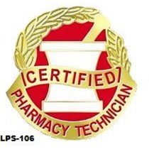 Certified Pharmacy Technician Lapel Pin Professional Medical Mortar Pestle Emblem 106