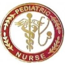 Pediatric Nurse Lapel Pin Caduceus Stethoscope Professional Emblem with Safety Catch 111