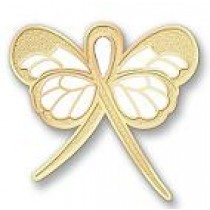 Childhood Cancer Awareness Month is September Gold Ribbon Butterfly Lapel Pin Exclusive