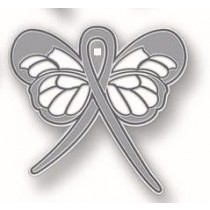 Dyslexia Awareness Month October Gray Ribbon Butterfly Reading Lapel Pin