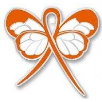Hunger Awareness Month November Orange Ribbon Butterfly Pin Exclusive