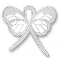 Dyslexia Awareness Month is October Silver Ribbon Butterfly Lapel Pin Exclusive