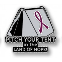 Multiple Myeloma Awareness Inspirational Burgundy Ribbon Tent Land of Hope Camping Camper Sport Lapel Pin