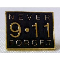 9-11-01 Never Forget Lapel Pin Black Terrorist Remembrance Cap Tac