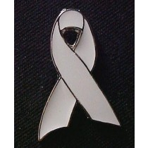Brain Tumor Lapel Pin Awareness Gray Support Ribbon Cap Tac