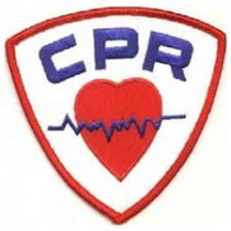 CPR Heart Heartbeat Shield Professional Embroidered Emblem Patch