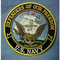 US Navy Defenders of Our Freedom Embroidered Emblem Patch 5""