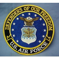 US Air Force Defenders of Our Freedom Embroidered Emblem Patch 5""