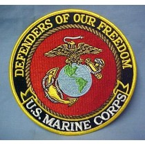 USMC US Marine Corps Defenders of Our Freedom Embroidered Emblem Patch 5""