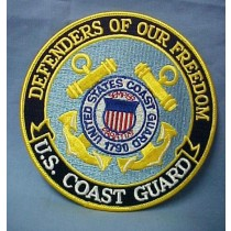 US Coast Guard Defenders of Our Freedom Embroidered Emblem Patch 5""