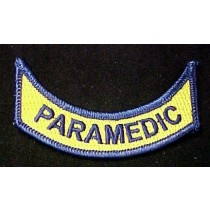 PARAMEDIC Official Embroidered Emblem Rocker Patch Set of 2 VA Virginia