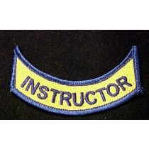 Instructor Official Embroidered Emblem Rocker Patch Set of 2 VA Virginia