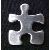 Autism Asperger Lapel Pin Pewter Crucial Puzzle Piece Awareness Cap Tac