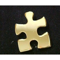 Autism Asperger Lapel Pin Gold Plated Puzzle Piece Awareness Cap Tac