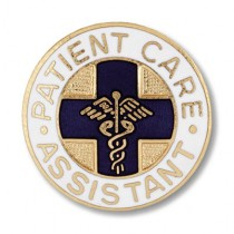Patient Care Assistant Lapel Pin PCA Professional Medical Emblem Blue Cross 1038