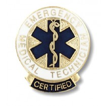 Certified EMT Lapel Pin Emergency Medical Technician Graduation Prestige 1087
