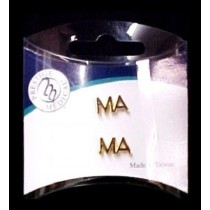 MA Medical Assistant Lapel Pin Cap Tac Set of 2 Gold Plate Letter Collar Pins